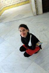 Laura dans le musée du Bardo