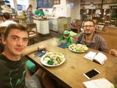 dîner avec Guillaume et Thiermit