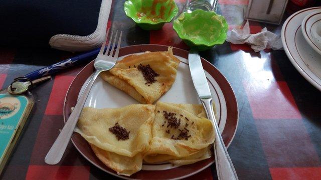 crêpes banane , miam pour le petit déjeuner