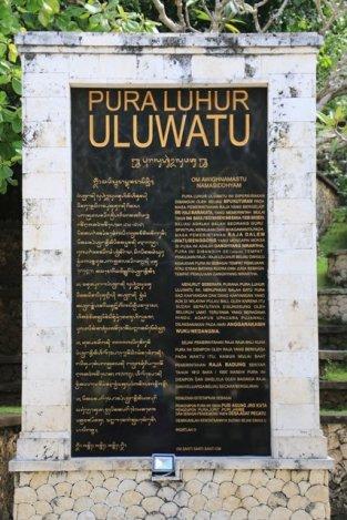 près du temple d'Uluwatu (qu'on ne peut pas visiter,original, n'est-ce pas ?)