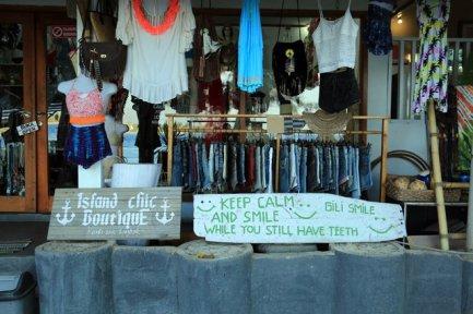 commerce sur Gili Air