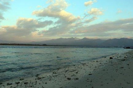 sur une plage de Gili Air