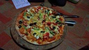 une pizza...oui je sais c'est pas trop balinais...mais qu'est ce qu'elle était bonne !