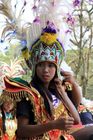 Site de Borobudur, danseuse folklorique