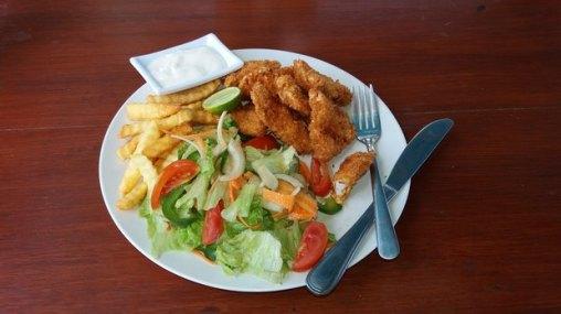 Fish and Chips à Gerupuk - Lombok (Indonésie)