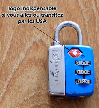Le cadenas TSA