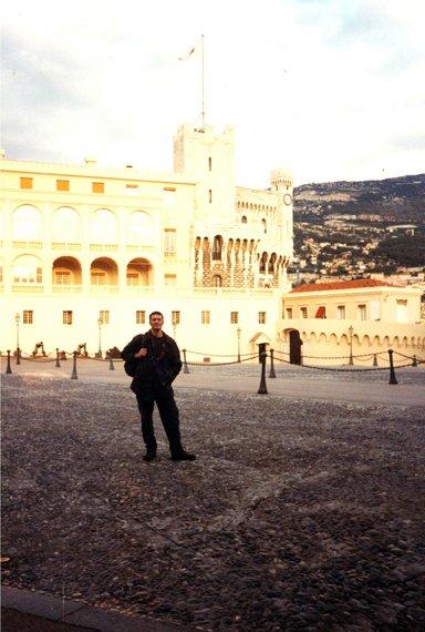 près du palais princier à Monaco (RDV n°5 - Mes voyages avant...Internet...suite et fin)
