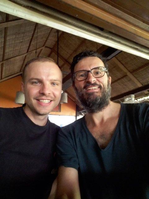 rencontre avec Antoine, français expatrié en Malaisie venu à Siem Reap pour le réveillon du 31 décembre