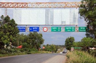 sur la route vers Kampot