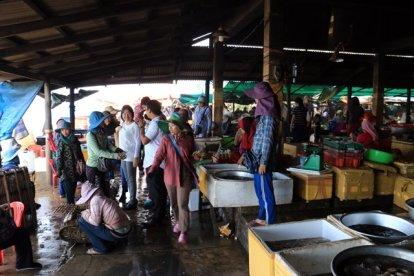 le marché au crabe et aux poissons à Kep