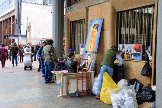 dans les rue de Bogotá