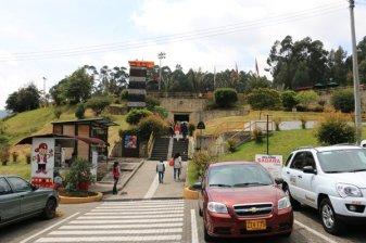 l'entrée de la Cathédral de sel à Zipaquirá - l'autre ailleurs en Colombie, une autre idée du voyage