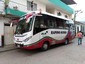 le bus Rapido Ochoa de Jardin à Medellín - l'autre ailleurs en Colombie, une autre idée du voyage