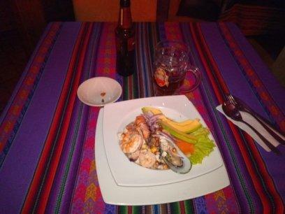 dernier dîner dans le restaurant Casa de Citas dans le quartier de la Candelaria à Bogotá