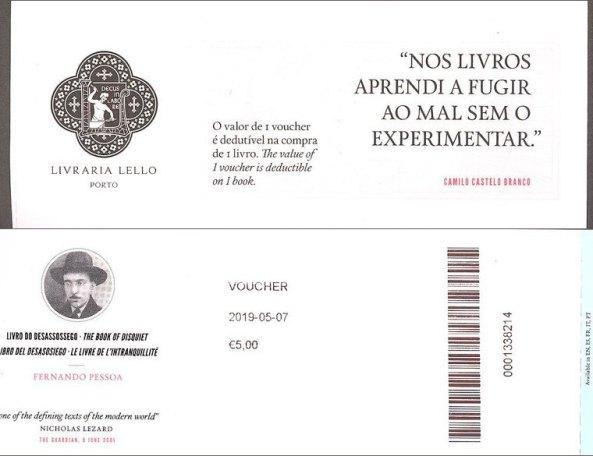 Ticket d'entrée pour visiter la librairie Lello : 5€ (à déduire sur l'achat d'un ouvrage) - l'autre ailleurs à Porto, une autre idée du voyage