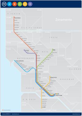 Plan du métro - l'autre ailleurs à Porto, une autre idée du voyage