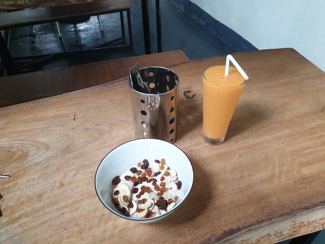 le dernier petit déjeuner, dans l'hôtel Secret Garden Fort à Galle - l'autre ailleurs au Sri-Lanka, une autre idée du voyage