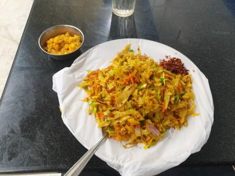 le dernier déjeuner, un kottu,à Colombo - l'autre ailleurs au Sri-Lanka, une autre idée du voyage