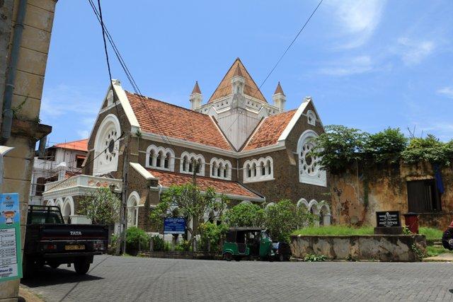 une église dans la partie vieille ville de Galle - l'autre ailleurs au Sri-Lanka, une autre idée du voyage