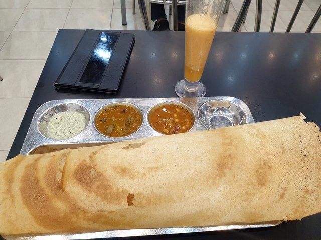 Masala Dosa, repas végétarien à Kandy - l'autre ailleurs au Sri-Lanka, une autre idée du voyage