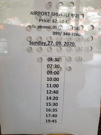 les horaires de la navette bus pour l'aéroport de Dubrovnik - l'autre ailleurs en Croatie, une autre idée du voyage