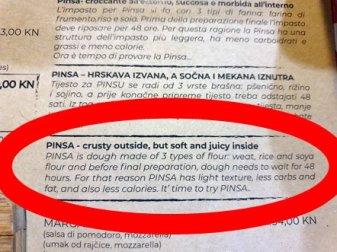 la recette d'une excellente pinsa (pizza) au Salsa Rossa Italian Restaurant à Zadar - l'autre ailleurs en Croatie, une autre idée du voyage