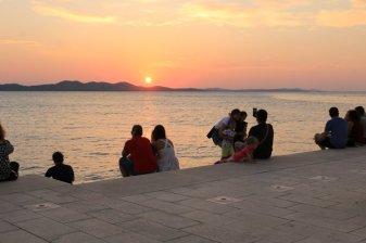 coucher de soleil en écoutant l'orgue maritime à Zadar - l'autre ailleurs en Croatie, une autre idée du voyage