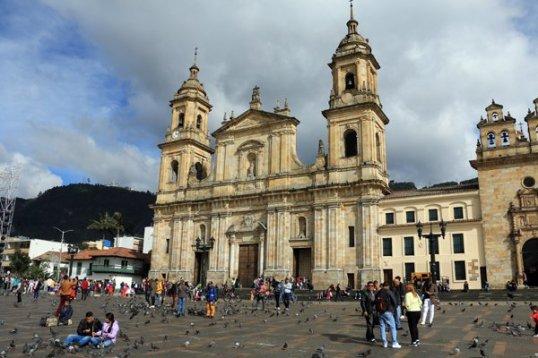 la place Simon Bolivar à Bogotá