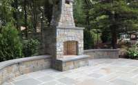 Natural Bluestone Fireplace & Patio. South Huntington ...