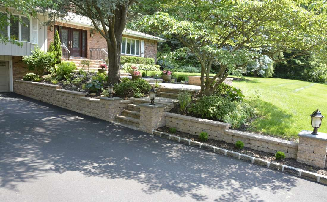 front entry walkway & driveway