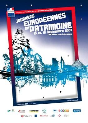 Affiche des journées Européenne du Patrimoine, Aurillac 2007