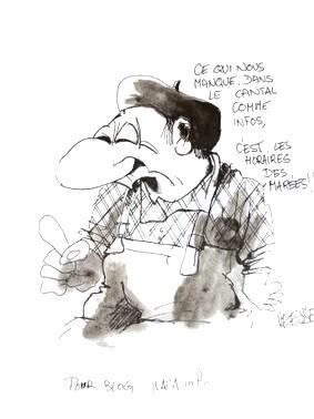 Dessin de Vesse, salon du dessin de presse, caricatures, St-Just