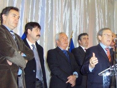 Tunnel du Lioran, inauguration, Pierre Jarlier, Alain Marleix, Vincent Descoeur, René Souchon