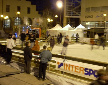 Patinoire, patineurs, Aurillac, Cantal
