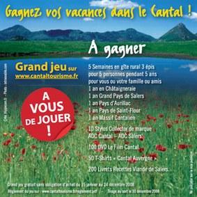 Cantal tourisme au salon de l'agriculture de Paris, jeu
