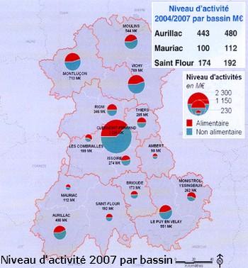 Flux de consommation et des achats dans le Cantal, Auvergne