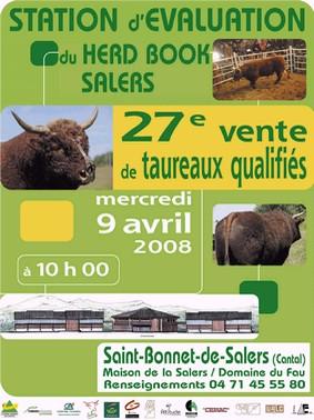 Vente de taureaux race Salers