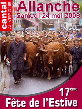 Fête de l'estive 2008 à Allanche, Cantal