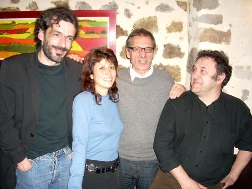 Au centre: Jean Paul Besset et élus verts du Cantal