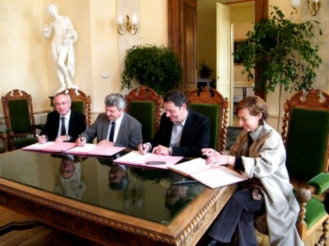 Signature de la convention C.H.A.D à l'Hôtel de Ville d'Aurillac