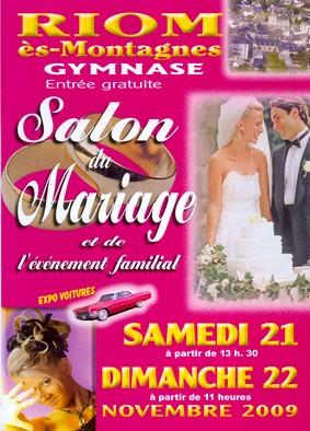 Salon du mariage à Riom ès Montagnes, Cantal