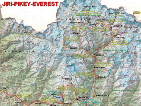 Carte du SoluKhumbu Trail 2010