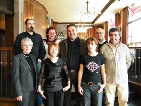 Lionel Roucan (au milieu) et l'équipe dEurope Ecologie Cantal