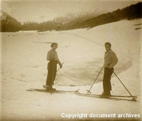 Skieurs au Lioran il y a un siècle