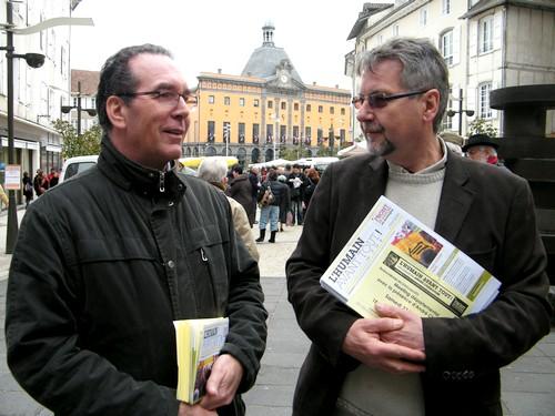 Michel Leron et Patrick Perrier (Front de gauche Cantal)