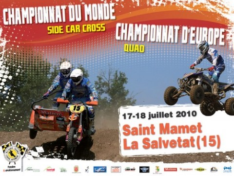 Championnat du Monde Side Car et Europe Quad Cross St Mamet