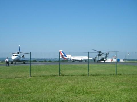 Avion présidentiel à Aurillac