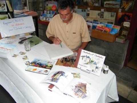Raymond Cazes, aquarelliste