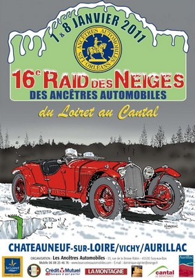 Raid des neiges 2011 Chateauneuf-sur-Loire / Vichy / Aurillac