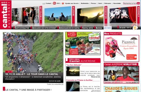 Cantal Auvergne, le nouveau portail du département